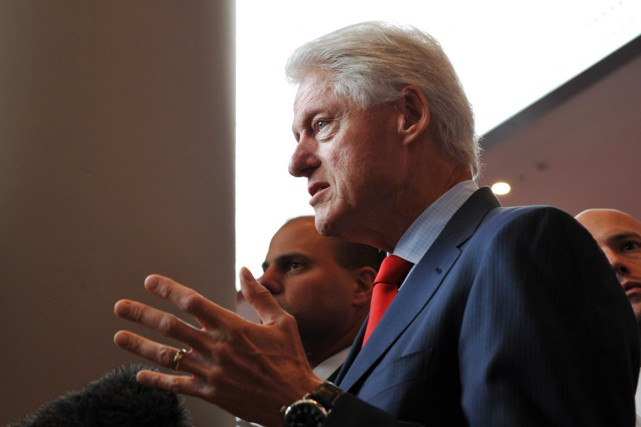 Bill Clinton.... (PHOTO ESTHER LIM, AFP)