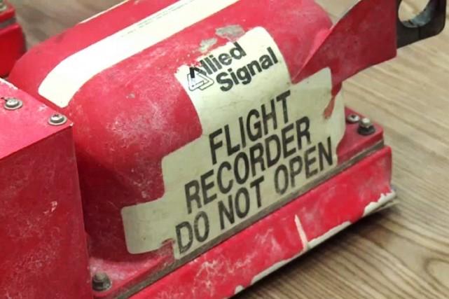Aucune altération n'a été trouvée sur la boîte noire ayant enregistré les sons... (Photo Damien Simonart, AP)