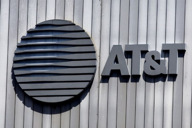 Le géant américain des télécommunications AT&T a affiché mardi une perte de... (PHOTO ARCHIVES AFP)