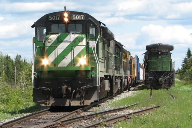 La locomotive 5017 de la MMA devait être... (Archives PC)