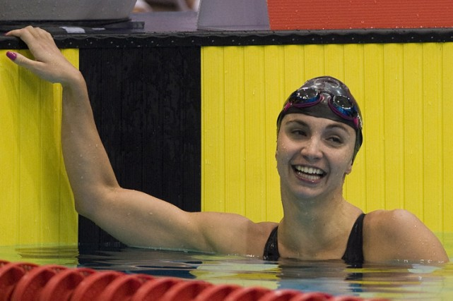 Audrey Lacroix à la piscine du stade olympique... (Photo: PC)