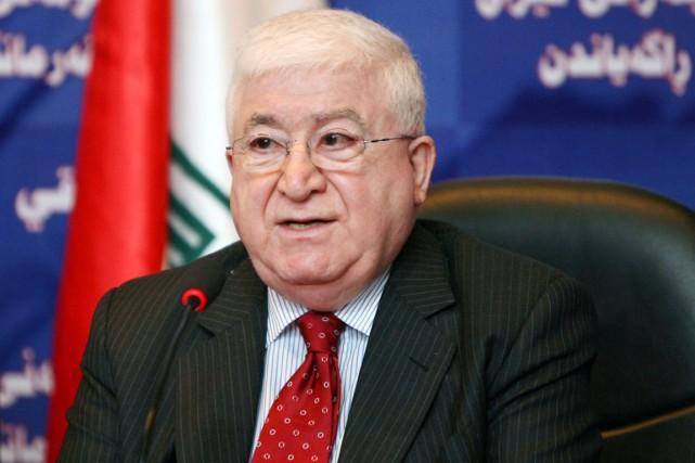 Fouad Massoum, né en 1938, aura pour tâche... (PHOTO ALI AL-SAADI, ARCHIVES AFP)