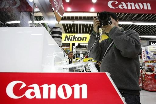 Le groupe japonais de bureautique et d'appareils photo Canon (CAJ)... (Photo archives Reuters)