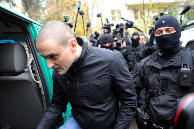 Sergueï Oudaltsov, 37 ans, était un des chefs... (Photo ANDREY SMIRNOV, AFP)