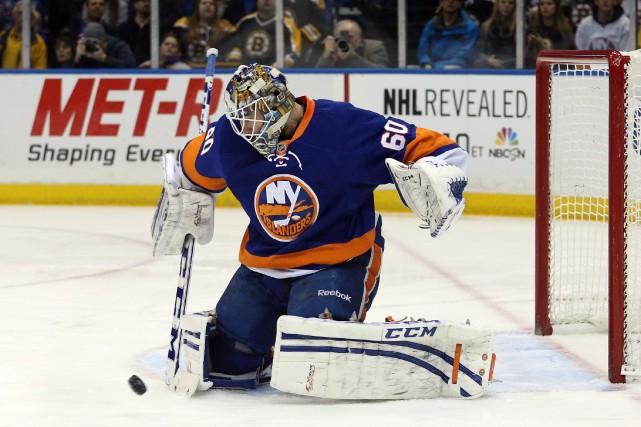 Les Islanders de New York ont annoncé que le gardien québécois Kevin Poulin a... (Photo Brad Penner, USA Today Sports)