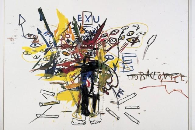 L'oeuvre Exu de Jean-Michel Basquiat sera présentée dans... (Photo: La Presse Canadienne)