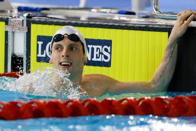 Le nageur canadien Ryan Cochrane a remporté l'épreuve... (Photo Kirsty Wigglesworth, AP)