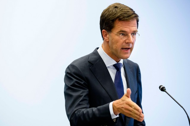 Le premier ministre des Pays-Bas Mark Rutte.... (PHOTO ARCHIVES AGENCE FRANCE-PRESSE)