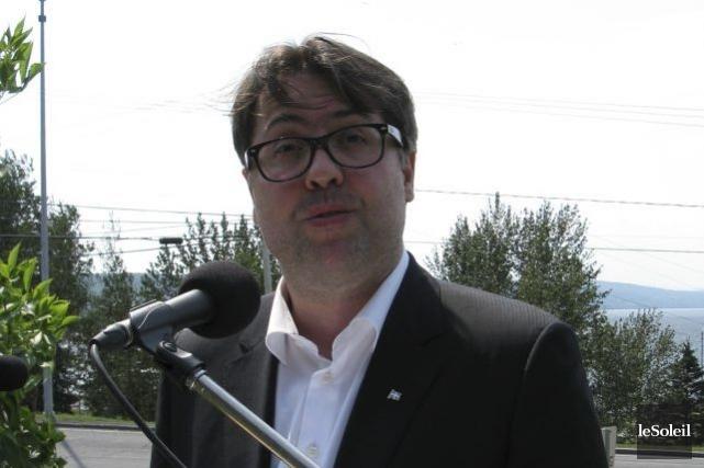 Le ministre de l'Environnement, David Heurtel, a répété... (PHOTO GENEVIÈBE GÉLINAS, COLLABORATION SPÉCIALE, LE SOLEIL)