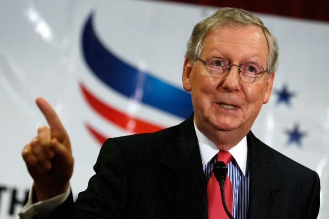 Le sénateur Mitch McConnell est la voix la... (Photo Yuri Gripas, archives Reuters)