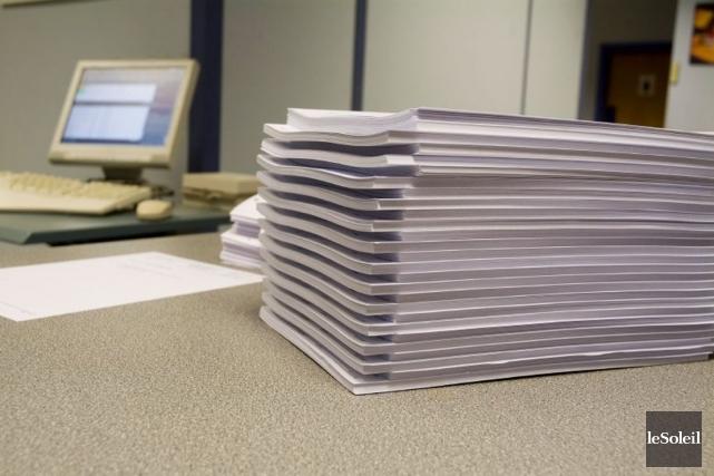 Selon les données de Xerox, la gestion documentaire,... (Photothèque Le Soleil)