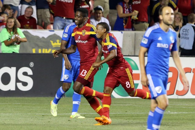 Olmes Garcia (13) a marqué deux buts dans... (Photo Chris Nicoll, USA Today)
