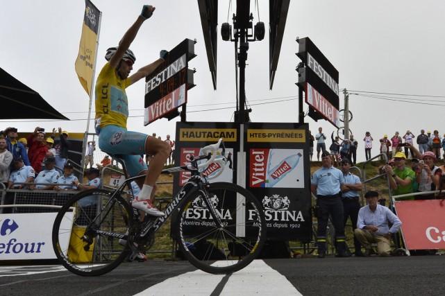 Vincenzo Nibali a remporté la 18e étape du... (Photo Alex Guigon, AFP)