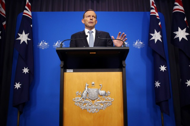 Le premier ministre australien Tony Abbott.... (PHOTO JOSH WILSON, ARCHIVES AFP)