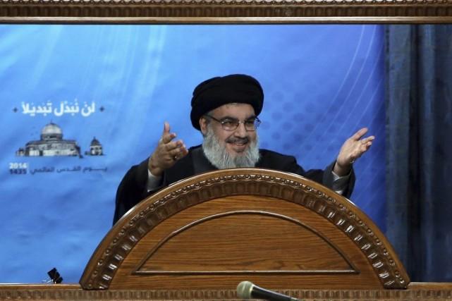 Hassan Nasrallah a appelé «les gouvernements arabes et... (Photo Bilal Hussein, AP)