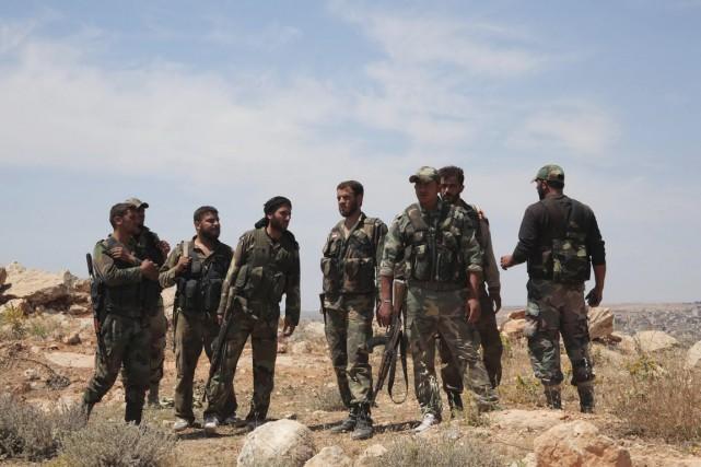 Au moins 50 soldats syriens ont été tués.... (PHOTO GEORGE OURFALIAN, ARCHIVES REUTERS)
