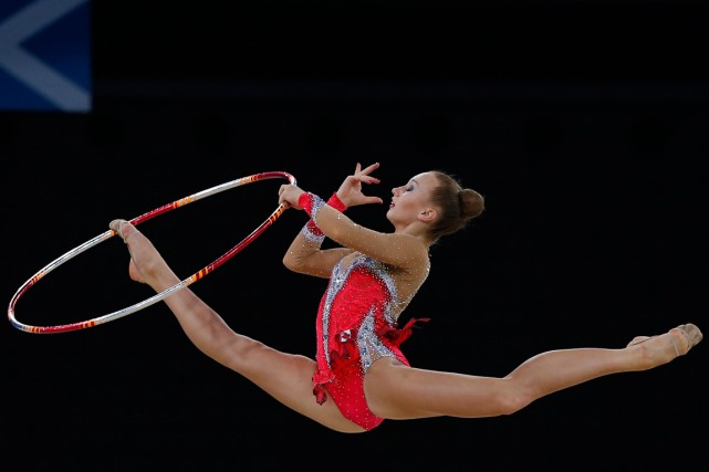 La gymnaste rythmique canadienne Patricia Bezzoubenko a remporté... (Photo Phil Noble, Reuters)