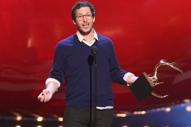 Andy Samberg à la cérémonie Guys Choice Awards... (Photo: archives AP)