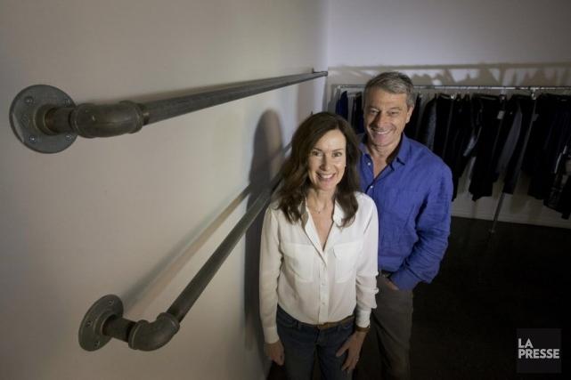 Le couple d'entrepreneurs Judith Richardson et Charles Le Pierrès a relancé sa... (PHOTO IVANOH DEMERS, LA PRESSE)