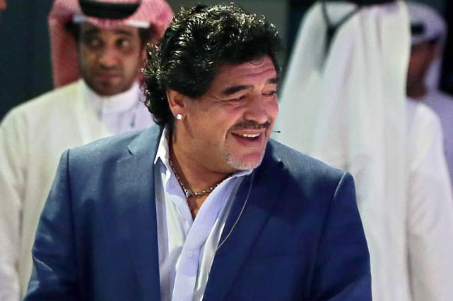 Diego Maradona... (Photo Marwan Naamani, archives AFP)