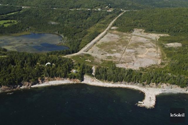 L'emplacement projeté pour la cimenterie a fait l'objet... (PHOTO GILLES GAGNÉ, ARCHIVES LE SOLEIL)