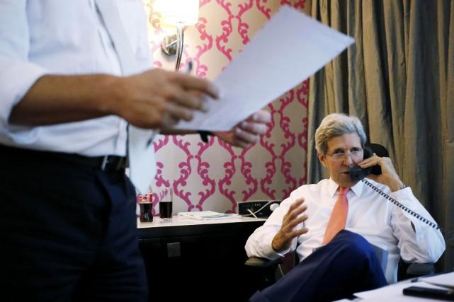Le secrétaire d'État des États-Unis John Kerry au... (Photo Reuters)