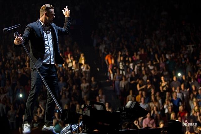 Justin Timberlake a complètement séduit le Centre vendredi... (PHOTO ALAIN DÉCARIE, LA PRESSE)