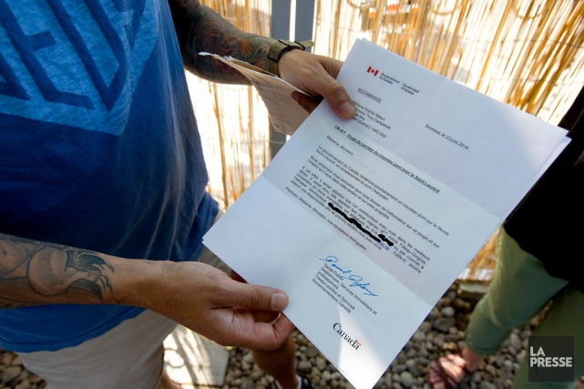 Des résidants de la rue May ont reçu... (PHOTO ALAIN ROBERGE, ARCHIVES LA PRESSE)