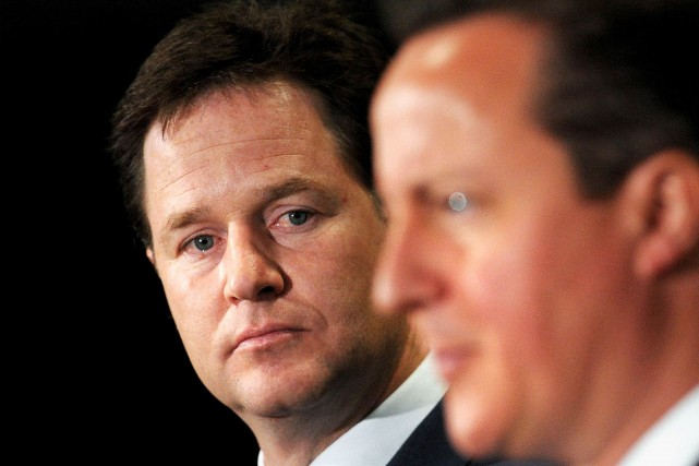 Le vice-premier-ministre anglais Nick Clegg.... (Photo archives Reuters)
