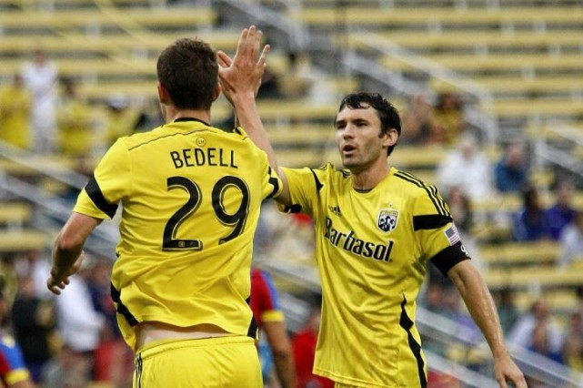 Ethan Finlay a fait mouche à la 84e minute et le Crew de Columbus a battu le... (Photo Joe Maiorana- Archives USA TODAY Sports)
