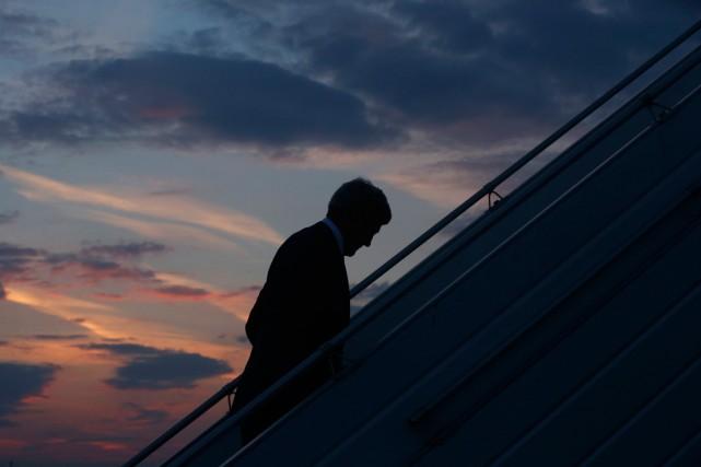 Le secrétaire d'État américain John Kerry est rentré... (PHOTO CHARLES DHARAPAK, REUTERS)