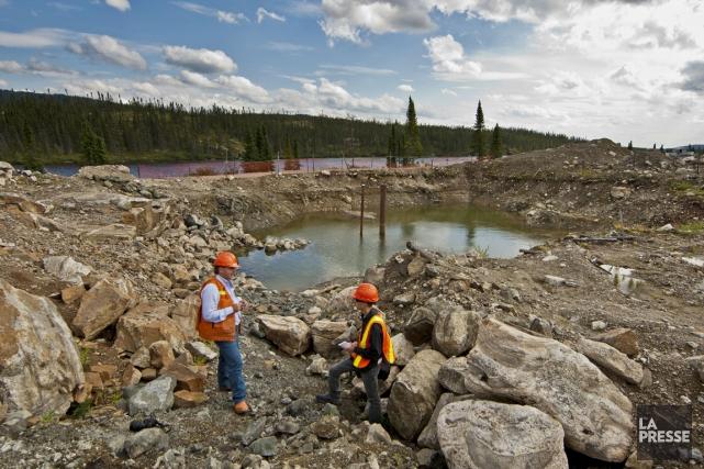 Lecampd'exploration duProjetRenardde la société Stornoway Diamond Corporation.... (Photo Hugo-Sebastien Aubert, archives La Presse)