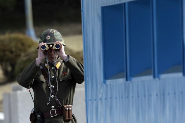 Un haut responsable militaire nord-coréen a menacé d'une frappe nucléaire la... (PHOTO LEE JIN-MAN, AP)