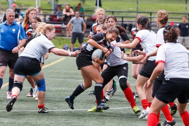 Le Rugby Club de Montréal recevait samedi le... (Photo Ulysse Lemerise, collaboration spéciale)