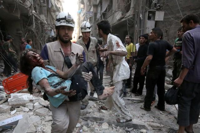 Le conflit en Syrie est devenu de plus... (Photo ZEIN AL-RIFAI, AFP)