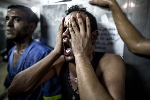 À Gaza, huit enfants et deux adultes sont... (Photo MARCO LONGARI, AFP)