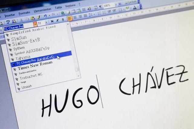 La police de caractère ChavezPro.... (PHOTO TIRÉE DE TWITTER)