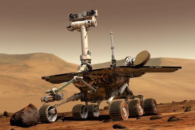 Opportunity explore aujourd'hui le cratère Endeavour sur Mars.... (Photo: AP)