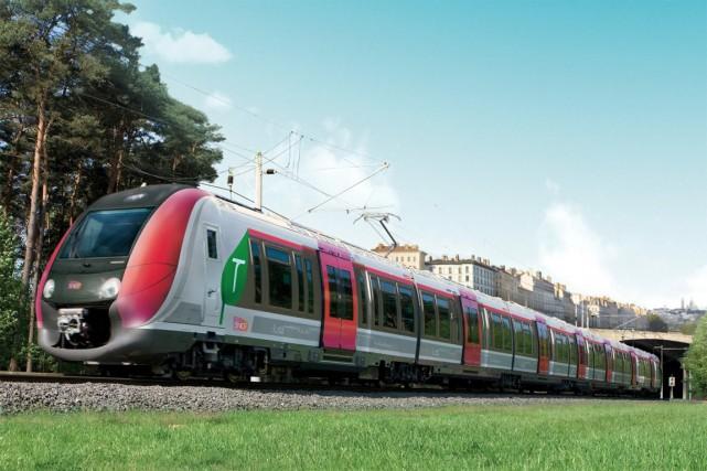 Le Francilien est un train articulé sur un... (Photo fournie par Bombardier)