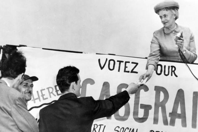 Thérèse Casgrain a activement milité pour les droits... (PHOTO ARCHIVES LA PRESSE CANADIENNE)