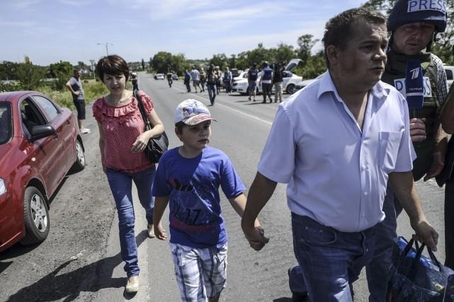 Les violents combats entre les séparatistes prorusses et... (Photo Bulent Kilic, Archives Agence France-Presse)
