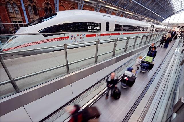 La compagnie ferroviaire transmanche Eurostar va lancer un nouveau service... (Photo BEN STANSALL, AFP)