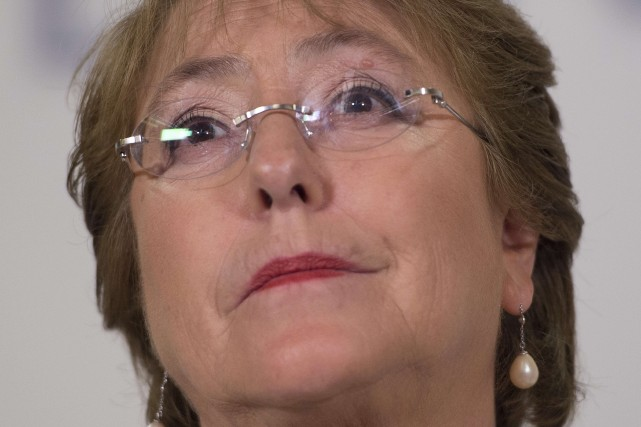 Michelle Bachelet, présidente du Chili... (PHOTO JIM WATSON, AFP)
