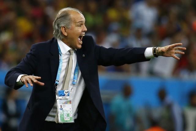 Alejandro Sabella lors de la finale au Brésil.... (Photo: Reuters)