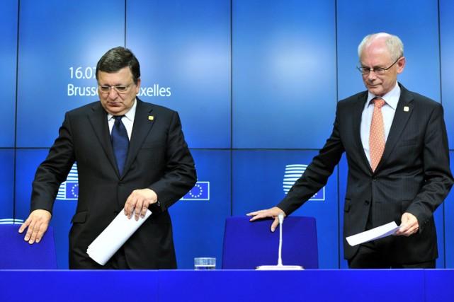 Le président du Conseil européen, Herman Van Rompuy... (Archives AFP)
