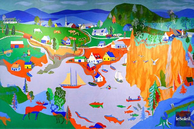 Canada Est, d'Alfred Pellan... (Photothèque Le Soleil, Caroline Grégoire)
