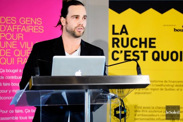 Le cofondateur et responsable de La Ruche Québec,... (Photothèque Le Soleil, Erick Labbé)