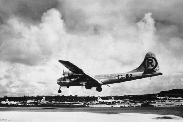 Le bombardier Enola Gayà Tinian, dans lesMariannes du... (Archives AP)