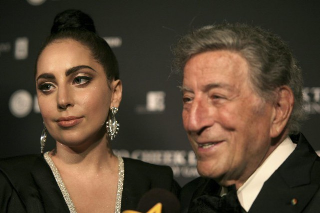 Lady Gaga en compagnie de Tony Bennett.... (Photo: archives AP)