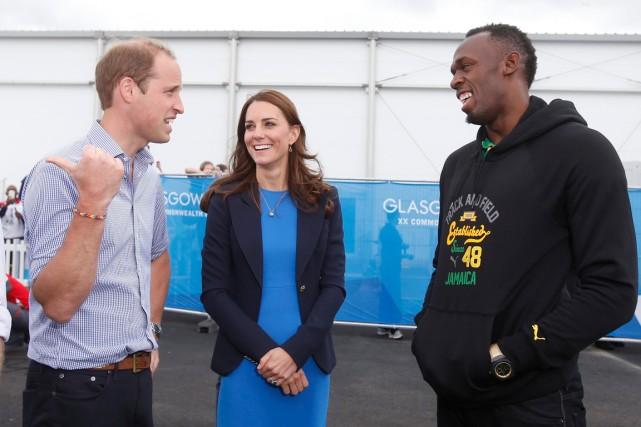 Le champion sprinteur Usain Bolt a rencontré le... (Photo Danny Lawson, AP)